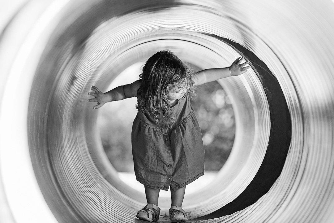 Girl in a playground in Horgen