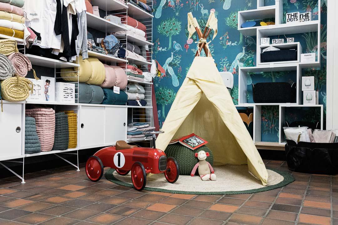 inside Caspar, a kids furniture store in Zurich